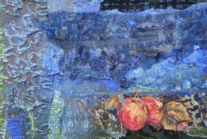 Collage Serie Azul con Frutas