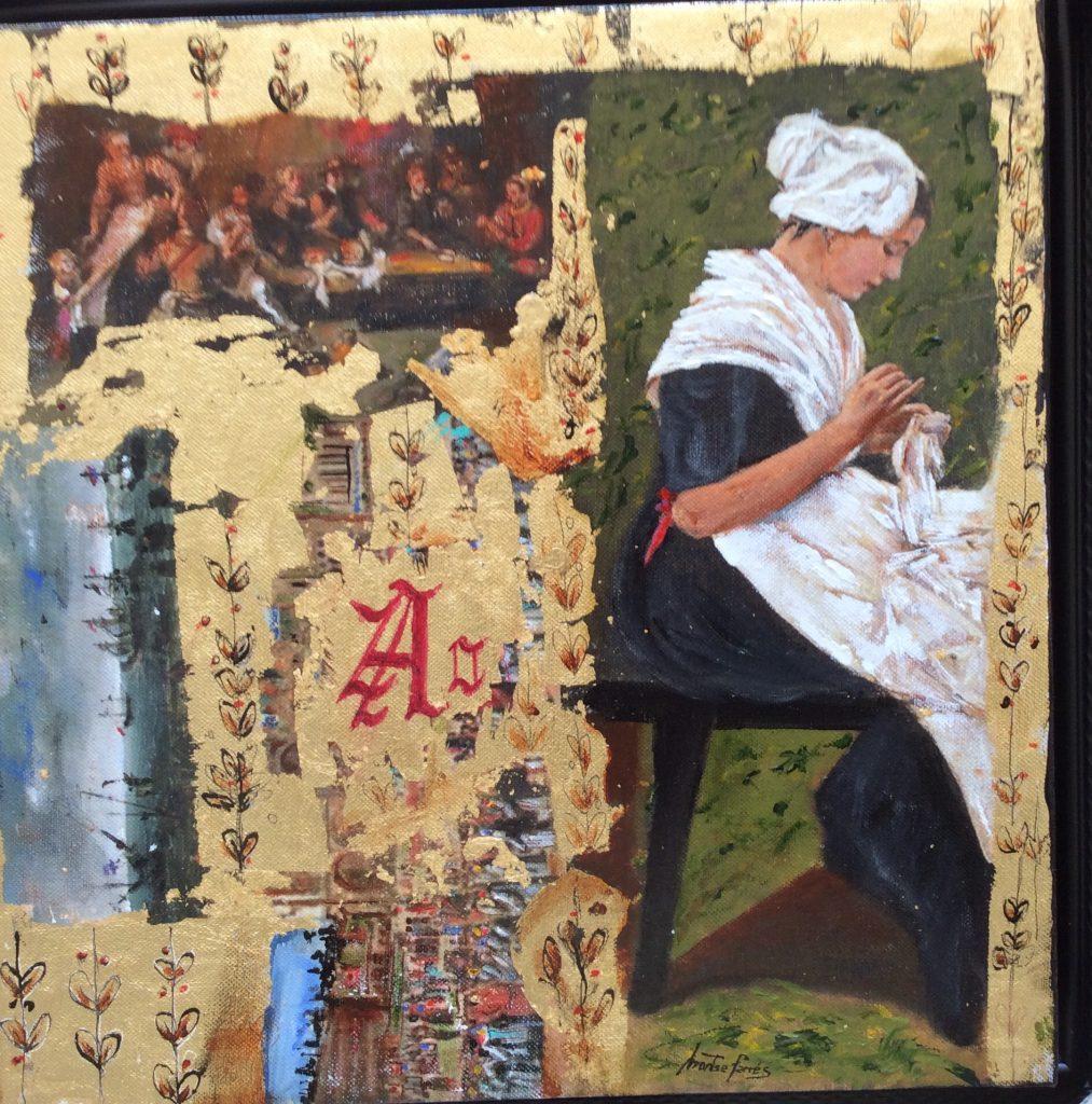Montse Farres, pintura figurativa, serie barroco 9